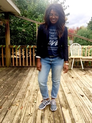 Graphic Tee (Vertical Church Band) Boyfriend Jeans (Gap) Sneakers (Adidas) Blazer (J.Crew)